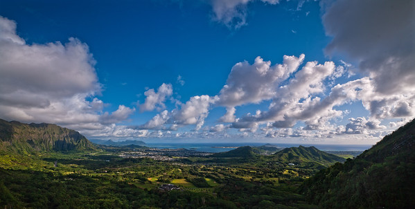 The view form the Pali Lookout