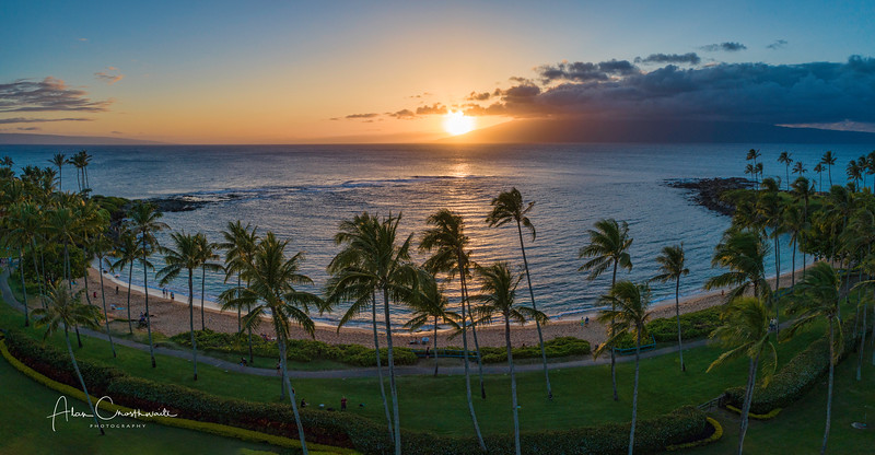 Kapalua sunset, maui, Hawaii