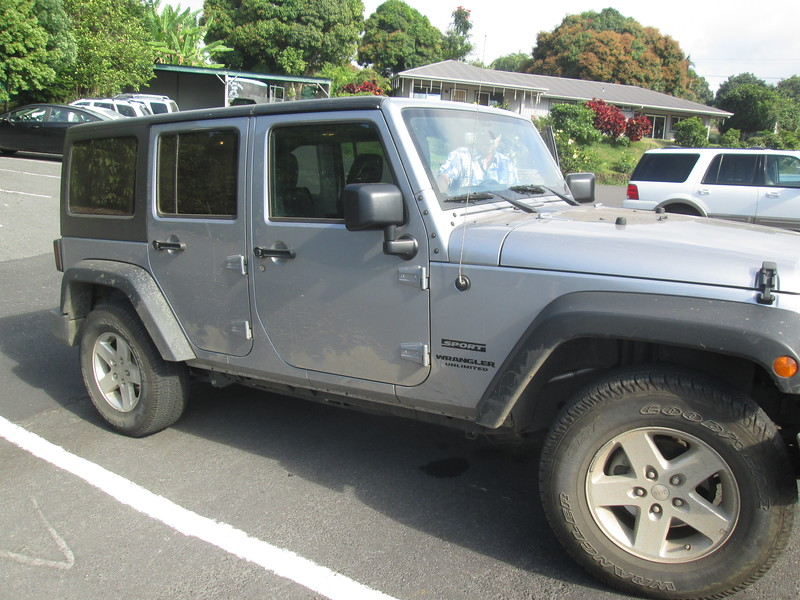 Our Rental Jeep