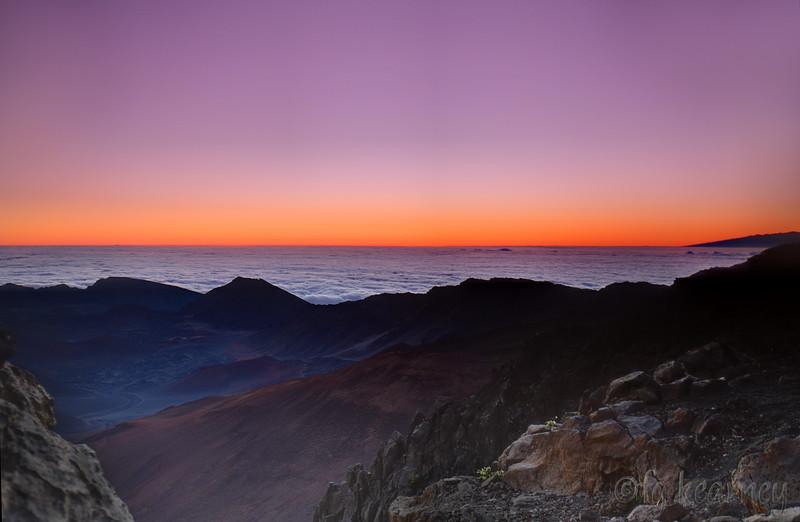 Overlooking Haleakala at sunrise