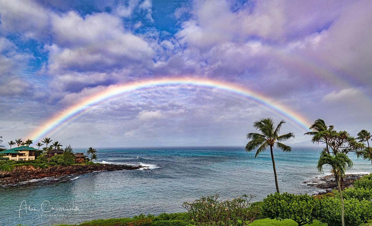 Rainbow over Honokeana Bay