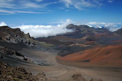 Haleakala Crater. Maui, Volcano National Park.