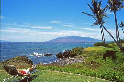 Wailea, Maui, Hawaii.  View of Kaho'olawe.
