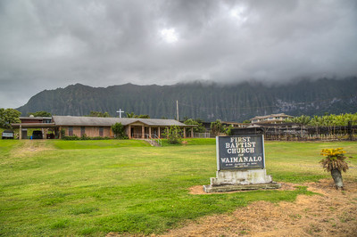 Church in Waimanalo, Oahu, Hawaii, USA