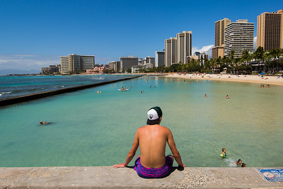 Waikiki Beach, Honolulu, Hawaii, USA