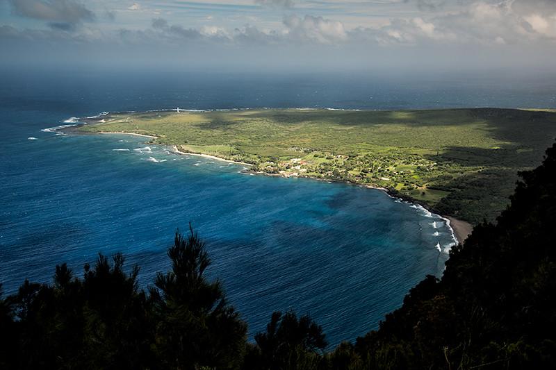 Kalaupapa as seen from overlook, Molokai, Hawaii