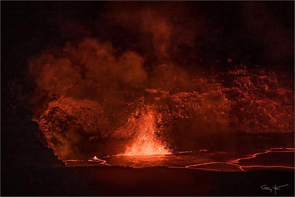 Kilauea Fountain, Hawaii