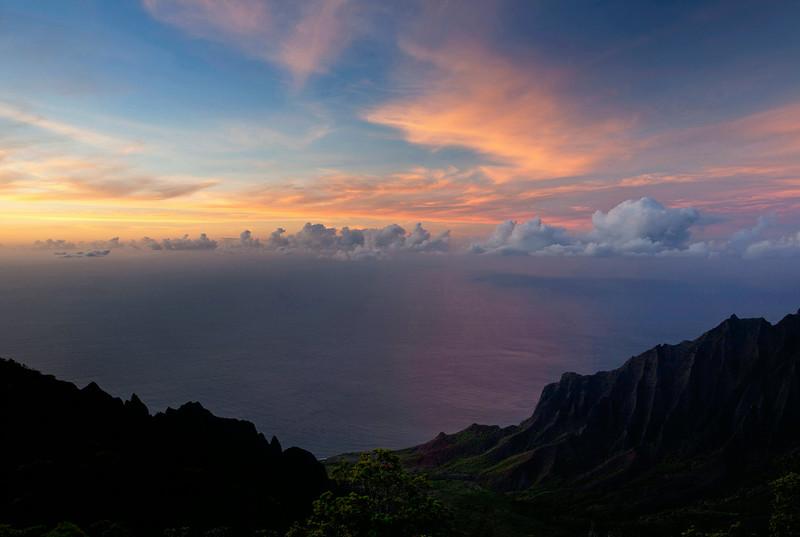 Kalalau Lookout sunset