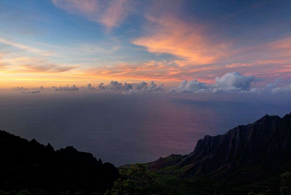 Kalalau Lookout sunset