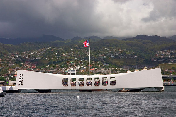 Arizona memorial, Pearl Harbor, Oahu.