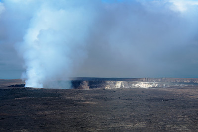 Kilauea Crater, Volcanoes National Park, Big Island.