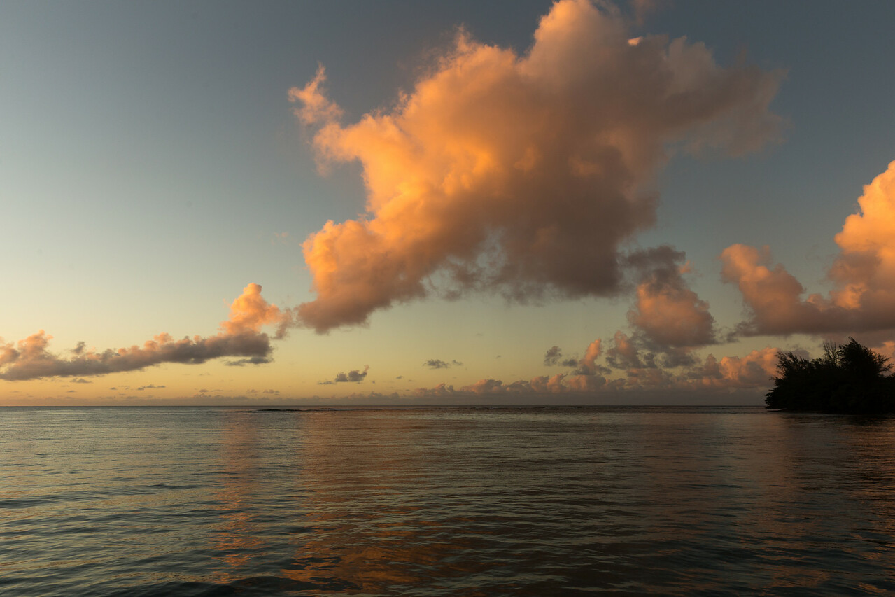 Sunset and Storm Clouds, Hanalei Bay, Kaua'i