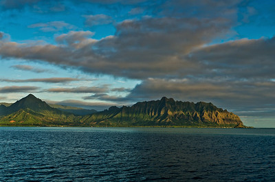 Koolau Mountains from Kaneohe Bay