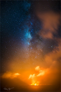 Under the Milky Way, Kilauea Caldera, Hawaii
