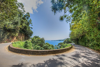 One of several hairpin turns on the Road To Hana