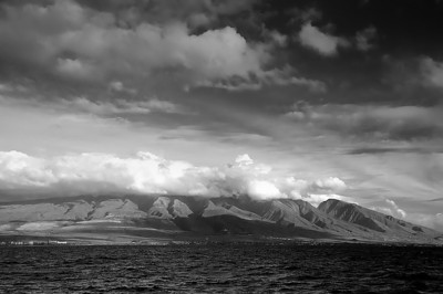 Looking back onto Maui from the whale watching boat