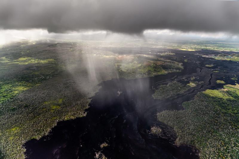 Rain Over Lava