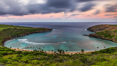 Moonrise at Hanauma Bay