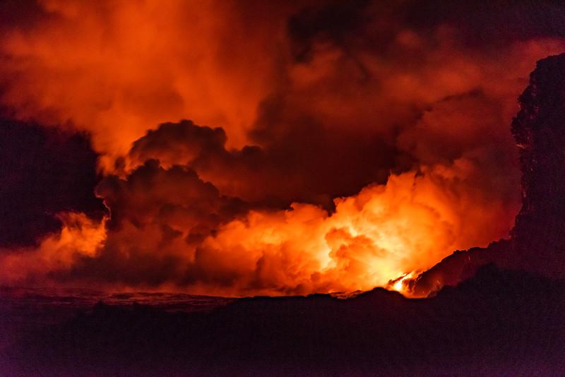 Lava hits the Ocean