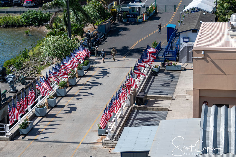 Entrance to the USS Missouri (50 Flags)