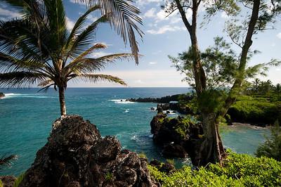 On the eastern side of Maui