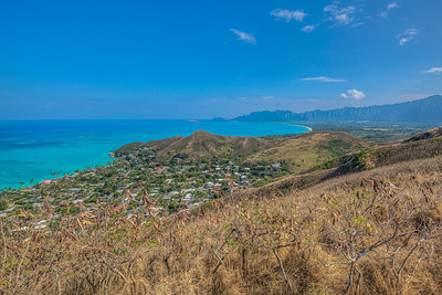 Shot from Lanikoa Pillboxes Trail on the island of Oahu, Hawaii