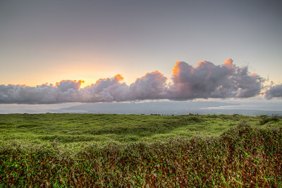 Shot from Upcountry Maui, where the Pacific Ocean can be seen on both sides of the island
