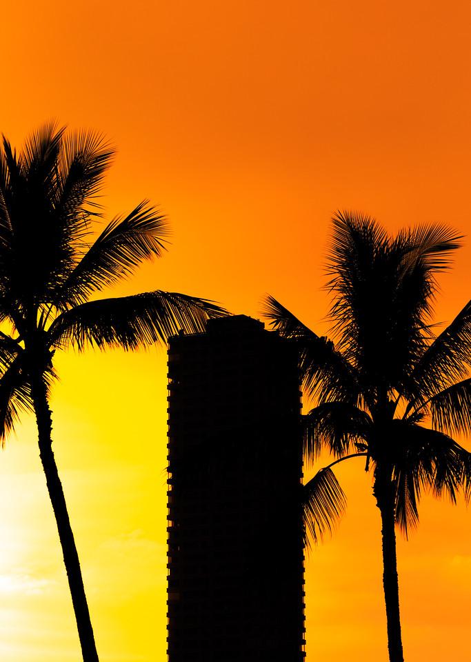 Oahu Sunset Silhouetts