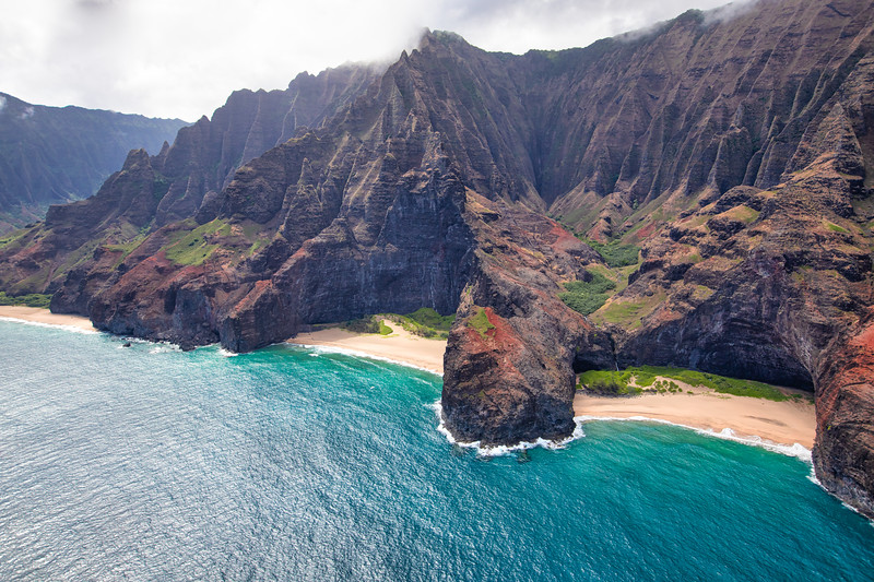 Honopū Valley, Nā Pali Coast.