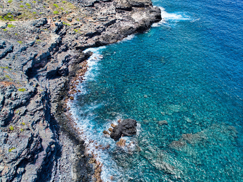 North west Maui near the blow hole.