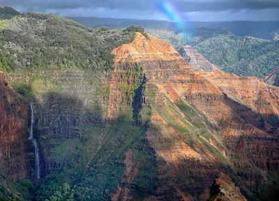 Waimea Canyon waterfalls