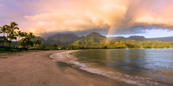 Sunrise at Hanalei Bay