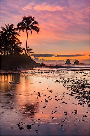 Sunrise Reflection, Onomea Bay, Hawaii