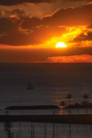 Sunset Over Magic island