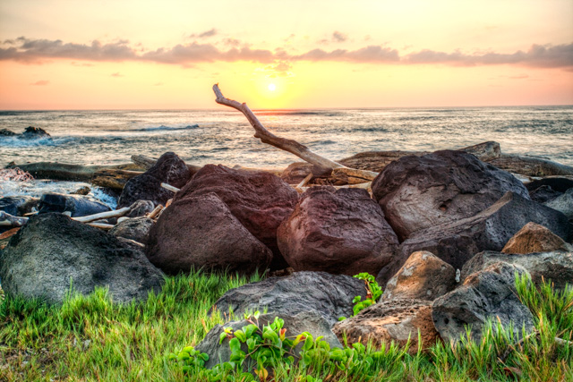 Kauai Sunrise at Lydgate Beach Park in Hawaii