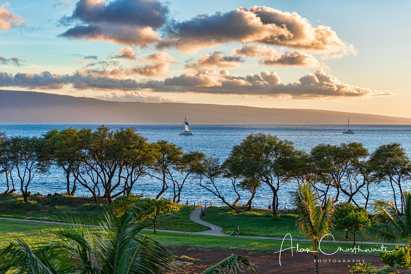 Kaanapali Beach sunset sailing