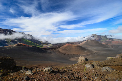 Volcanic cinder cones in Haleakala National Park, Hawaii