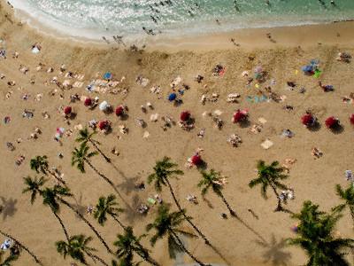 Waikiki beach life (Photoshop artistic effect applied)