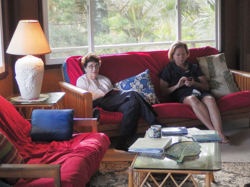 Beth and Janet at our vacation home in Kapoho