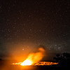 Kilauea Erupting on a Clear Night