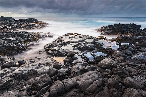 Lava Beach Reflection, Puna Coast, Hawaii
