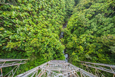Shot from a bridge on Big Island of Hawaii