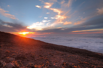 Sunset over Kihei taken form the switchbacks on Haleakala