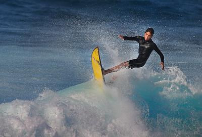 Surfer at Ho'okipa