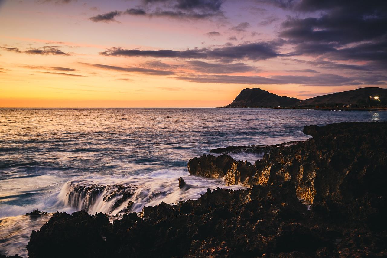 Makua Beach Sunset