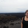 """Stopped for some pics with the lava fields. This rough lava is called """"a'a""""  and the smooth or ropey lava is called """"Pahoehoe"""""""