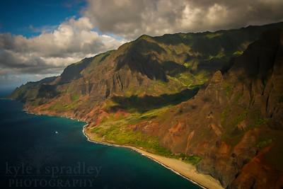 Scenes from around the Napali Coast in Kauai.  Photo by Kyle Spradley | www.kspradleyphoto.com