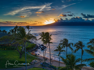 Kapalua Bay at sunset #6