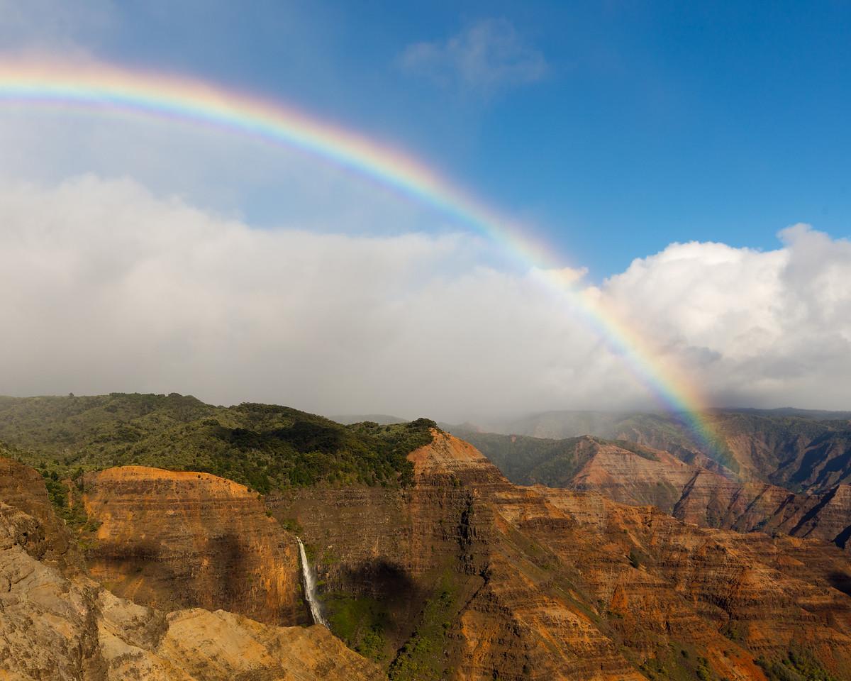 Rainbow and Waipoo Falls, Kauai, HI