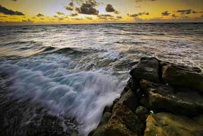 Sunrise on the beaches of Kauai.  Photo by Kyle Spradley | www.kspradleyphoto.com